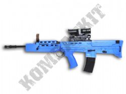 HA202B SA80 Rifle Replica Spring Airsoft BB Gun 2 Tone Blue Black